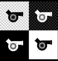 Automotive turbocharger icon isolated on black vector