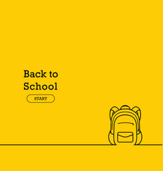 back to school banner poster flat design vector image