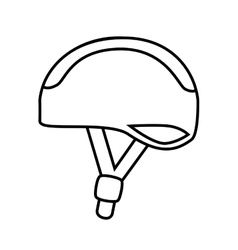 Bike helmet safety icon design vector image