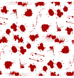 blood splat splash spot ink stain blot patch vector image