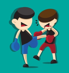boxing cartoon vector image