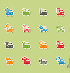 Car service icon set vector