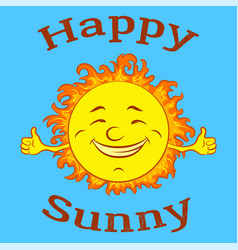 cartoon happy sun vector image
