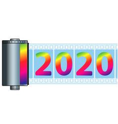 Cassette film 2020 vector