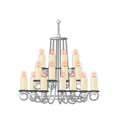 Chandelier for living room in retro style vector