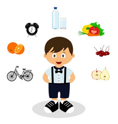 child healthy lifestyle vector image
