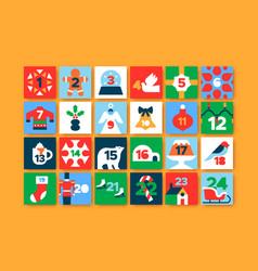 Christmas advent calendar number minimalist icon vector