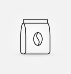 Coffee pack icon in thin line style vector