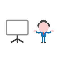 concept of faceless businessman character with vector image