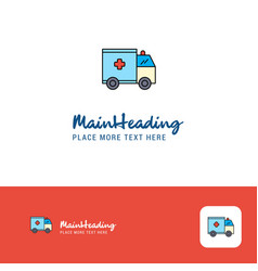 creative ambulance logo design flat color logo vector image