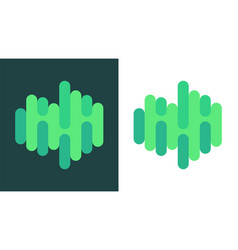 creative logo of northern lights vector image