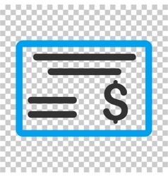 Dollar Cheque Icon vector