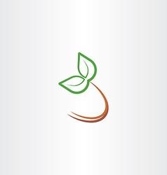 Eco plant leaf icon design element symbol vector