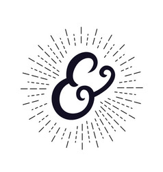 Elegant hand written ampersand vector