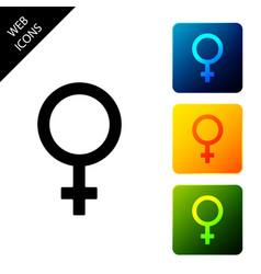female gender symbol icon isolated venus symbol vector image