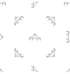 Festival tent pattern seamless vector