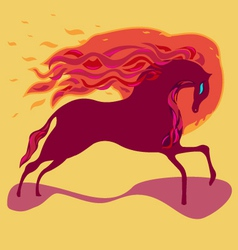 Fire horse vector image