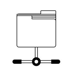 Folder save letters decoration vector