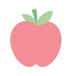 fresh fruit tasty apple icon vector image
