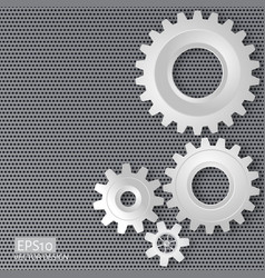 Gears with on the gear on perforated meta vector