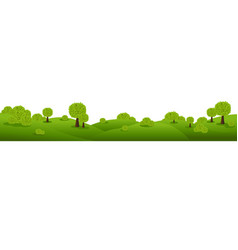 Green nature landscape isolated white background vector