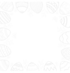 Happy easter card in light gray on a transparent vector