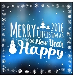 Happy New Year and Marry Christmas Holiday card vector image