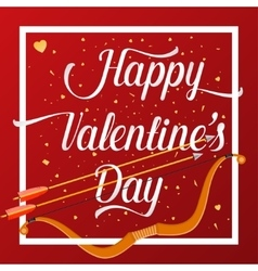 Happy Valentines Day lettering text with golden vector
