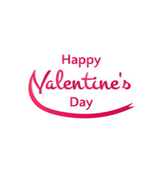 Happy valentines day words with a ribbon on a vector