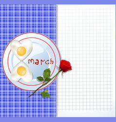 happy womens day template with number 8 shaped vector image