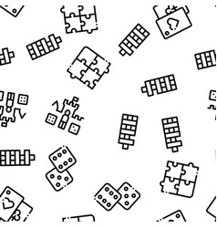 interactive kids games seamless pattern vector image
