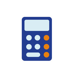 Isolated calculator icon flat design vector