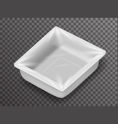 isometric disposable food pack isolated 3d vector image