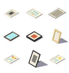 Isometric picture frames vector
