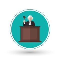 Judge of law and justice design vector image