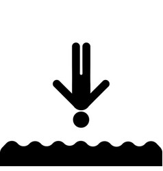 jump into the water icon vector image