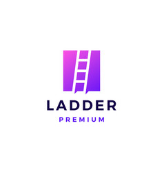 ladder logo icon vector image