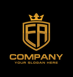 Letter ea luxury logo design vector