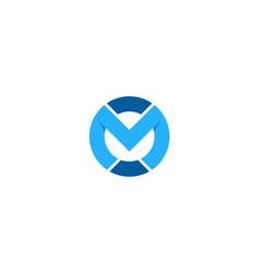 letter m logo icon design vector image