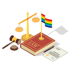 Lgbt rights legalization concept isometric vector