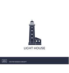 lihgthouse logo template vector image