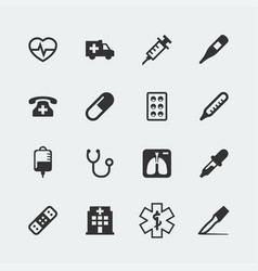 madical mini icons set vector image