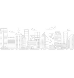 monochrome urban landscape vector image