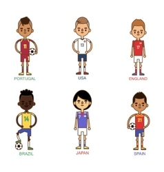 National Euro Cup soccer football teams vector image