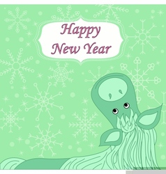 New year background with hourse vector