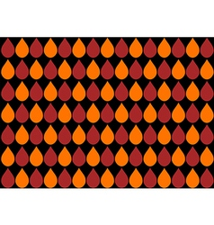 Orange Water Drops Black Background vector