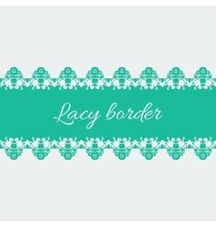 Ornamental lace border vector