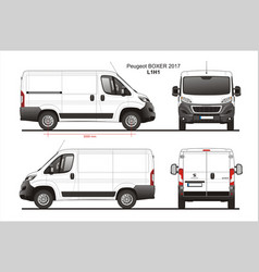 Peugeot boxer cargo delivery van 2017 l1h1 vector