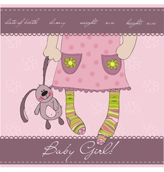 Pink bagirl card vector
