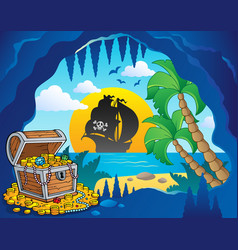 Pirate cove theme image 1 vector